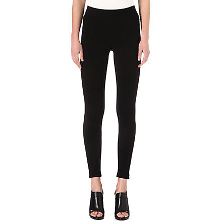 GIVENCHY Zip detail leggings (Black