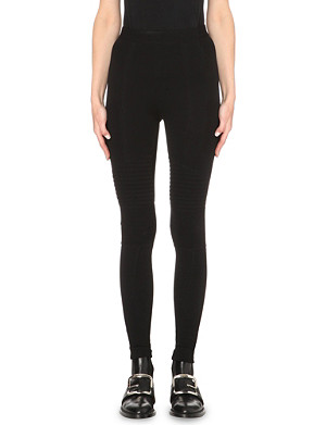 GIVENCHY Biker jersey leggings