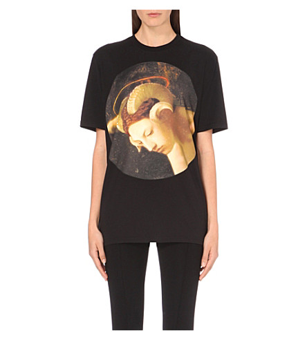 GIVENCHY Fauno-print cotton-jersey t-shirt (Blk