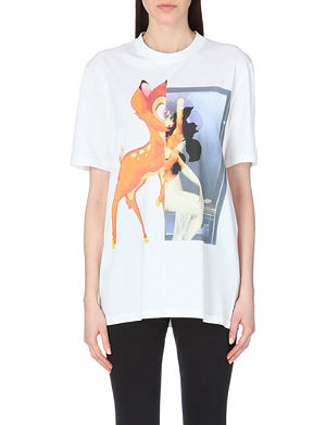 GIVENCHY Bambi-print cotton-jersey t-shirt