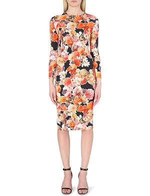 GIVENCHY Floral-print jersey dress