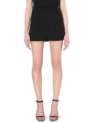 GIVENCHY Layered crepe shorts