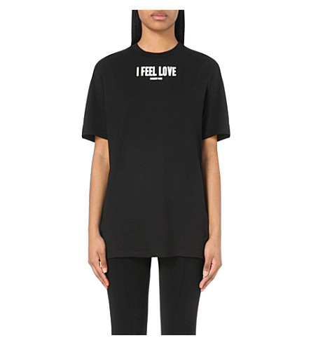 Givenchy i feel love cotton jersey t shirt black modesens Givenchy t shirt price