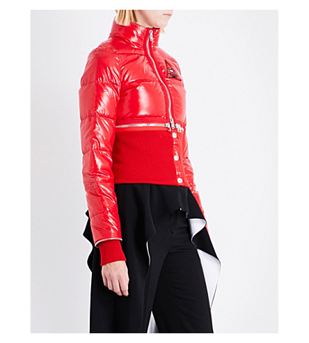 GIVENCHY Detachable cropped puffa jacket (Red