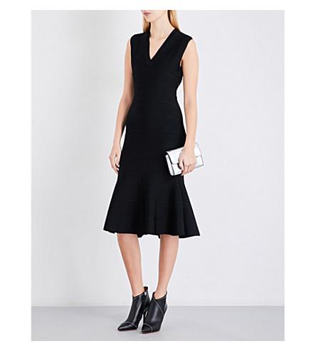 GIVENCHY Flared-hem sleeveless knitted dress (Black