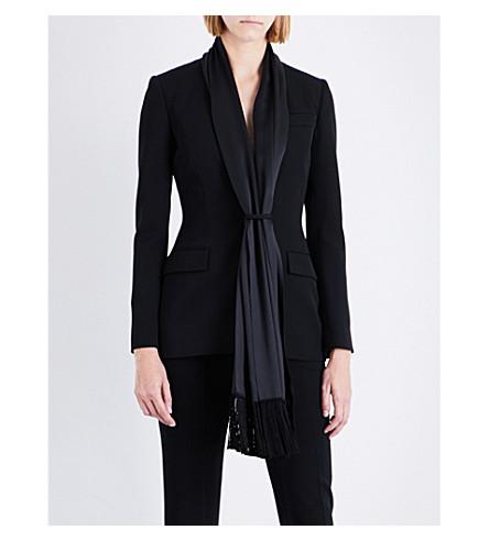 GIVENCHY Tuxedo single-breasted wool jacket (Black