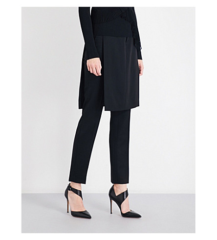 GIVENCHY Slim wool trousers (Black