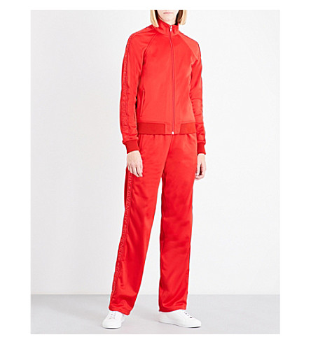 GIVENCHY Logo-trim straight neoprene jogging bottoms (Red