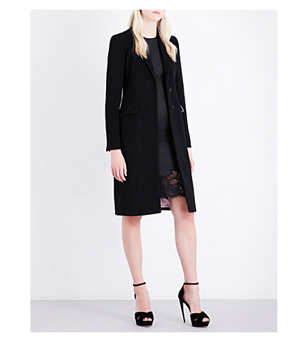 GIVENCHY Single-breasted wool and cashmere-blend coat (Black