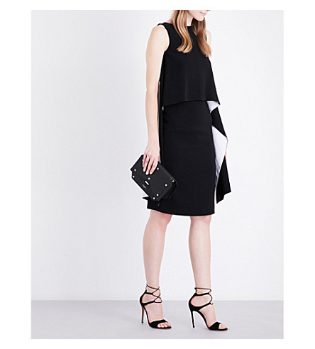 GIVENCHY Panel-overlay stretch-crepe dress (Black/white