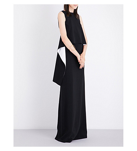 GIVENCHY Front-panelled woven gown (Black/white