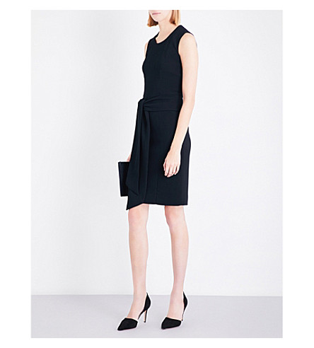 GIVENCHY Self-tie cady dress (Black/white