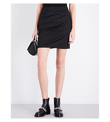 GIVENCHY Logo-detailed jersey mini skirt (Black