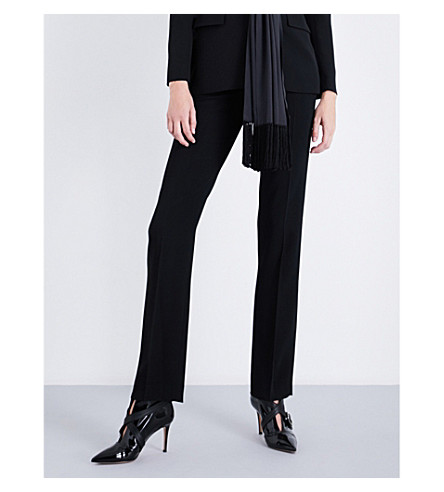 GIVENCHY Straight cropped stretch-crepe trousers (Black