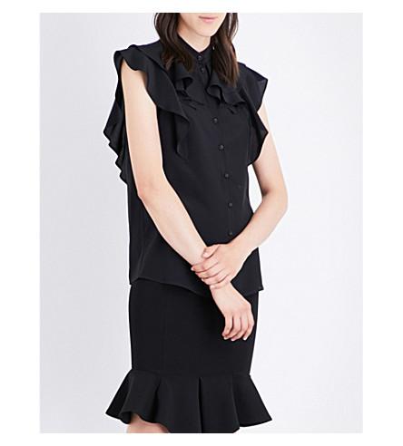 GIVENCHY Ruffled chiffon blouse (Black