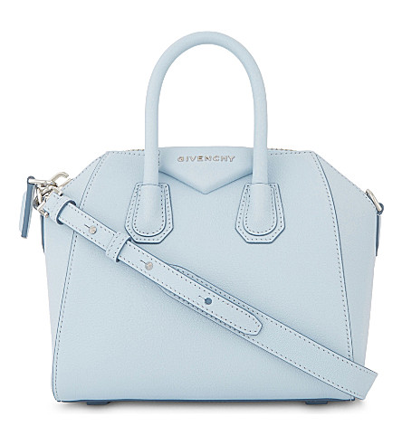 GIVENCHY Antigona mini leather cross-body bag (Baby+blue