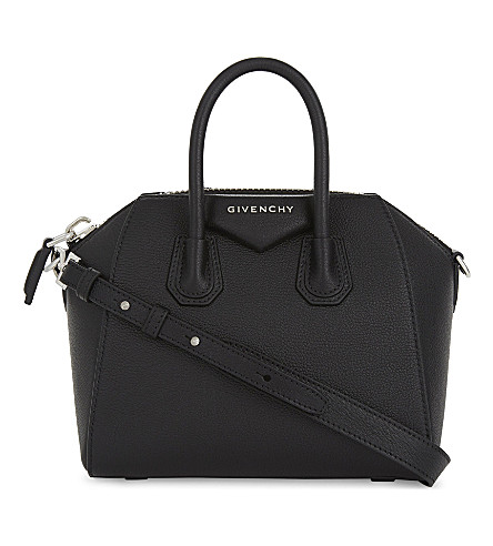 GIVENCHY Antigona 迷你皮革斜挎包 (黑色