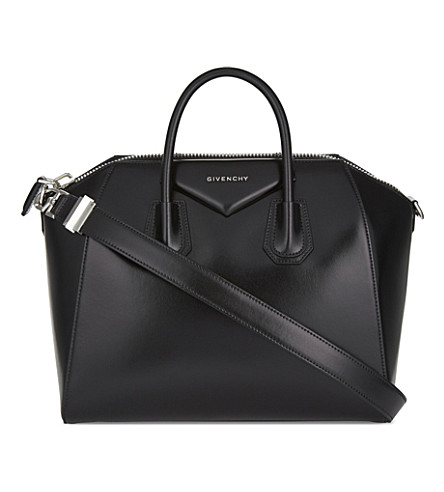 GIVENCHY Antigona medium leather tote (Black