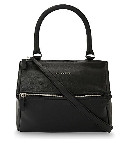 GIVENCHY Pandora Sugar medium grained leather shoulder bag (Noir