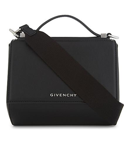 GIVENCHY Pandora leather cross-body bag (Black