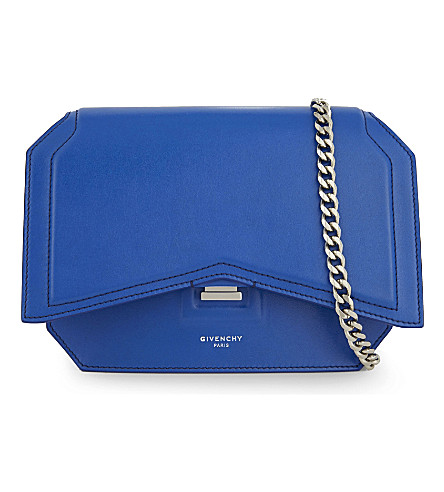 GIVENCHY Bow cut small leather cross-body bag (Indigo blue