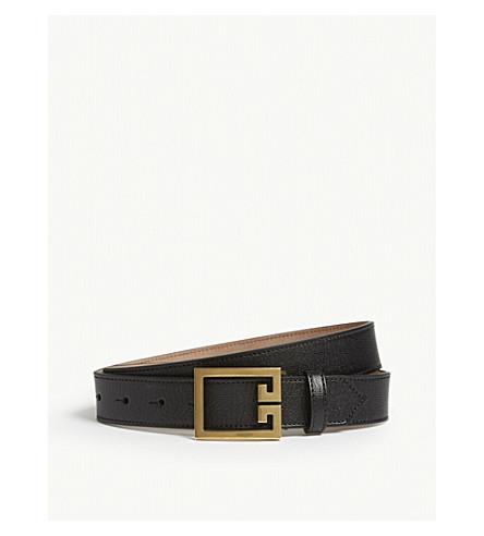 GIVENCHY Logo buckle leather belt (Black