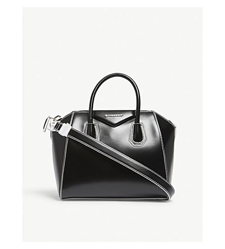 GIVENCHY Antigona Shine small leather tote (Black/white