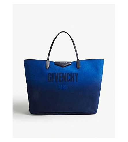 GIVENCHY Antigona reversible leather tote (Blue/silver