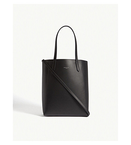 GIVENCHY Logo reversible leather tote (Black