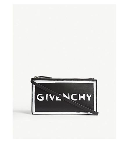 GIVENCHY Graffiti logo leather cross-body bag (Black