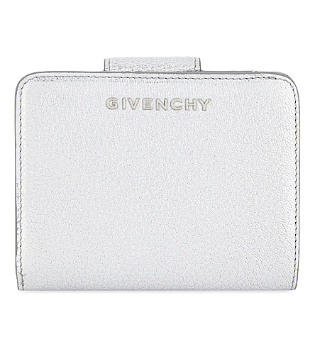 GIVENCHY Pandora metallic leather wallet (Silver