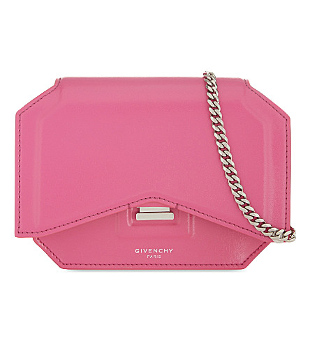 GIVENCHY Bow-cut small leather cross-body bag (Shocking pink