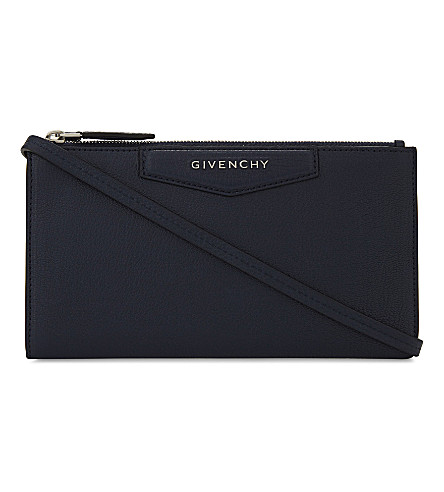 GIVENCHY Antigona leather wallet-on-chain (Navy