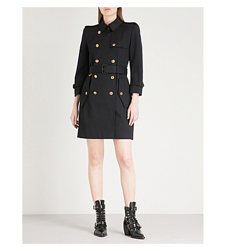 GIVENCHY Double-breasted cotton-twill trench coat (Navy