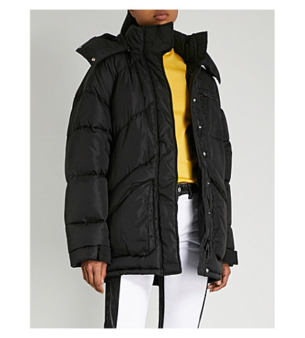 GIVENCHY Logo-embroidered shell puffer jacket (Black