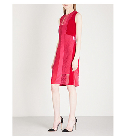 GIVENCHY Sleeveless fitted lace dress (Fuchsia