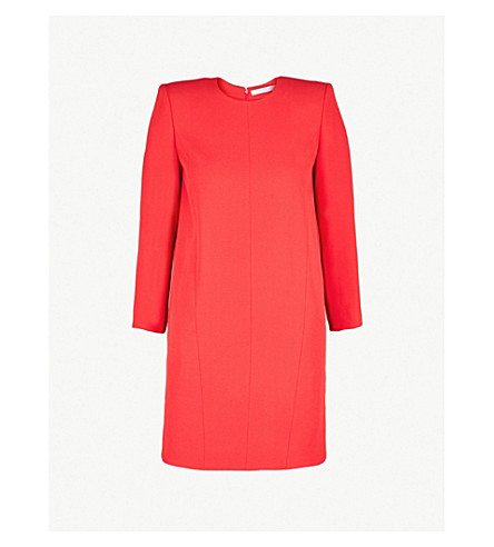 GIVENCHY Shoulder pad crepe mini dress (Red