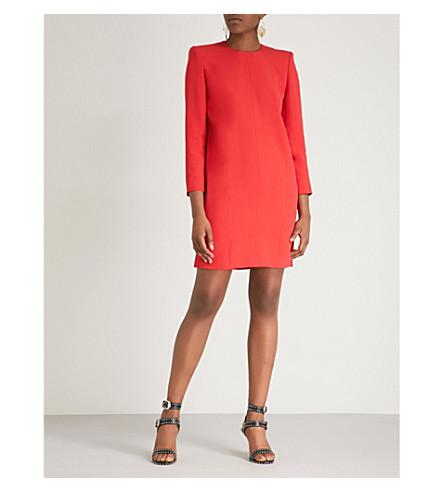 GIVENCHY Shoulder pad crepe mini dress (Red