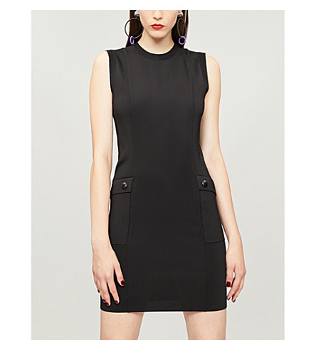 GIVENCHY Sleeveless knitted mini dress (Black