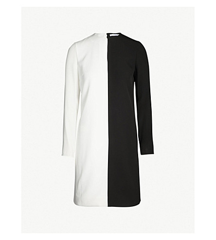 GIVENCHY Two-tone crepe mini dress (Black white