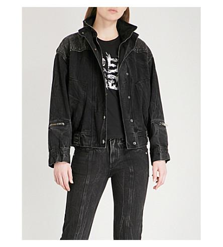 GIVENCHY Faded denim bomber jacket (Black