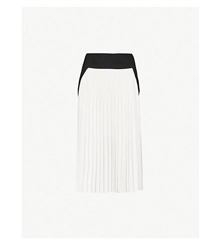 GIVENCHY 褶羊毛和丝绸混合的裙子 (黑/白