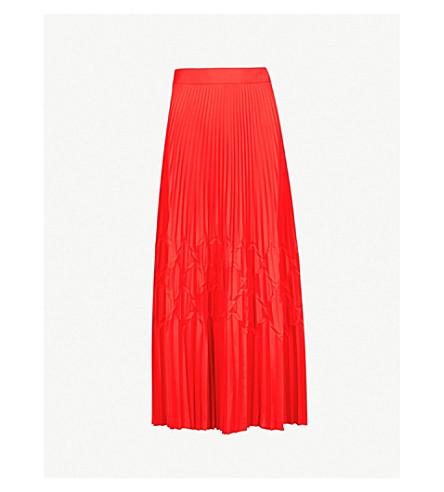 GIVENCHY 几何折痕绉裙 (红色
