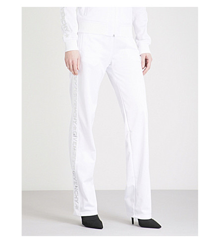 GIVENCHY Side-stripe jersey jogging bottoms (White