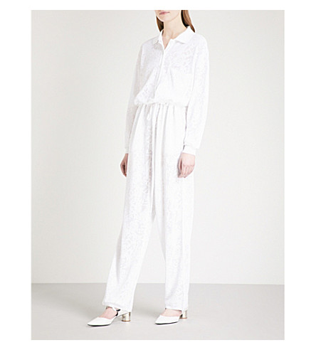 GIVENCHY Wide-leg lace jumpsuit (White