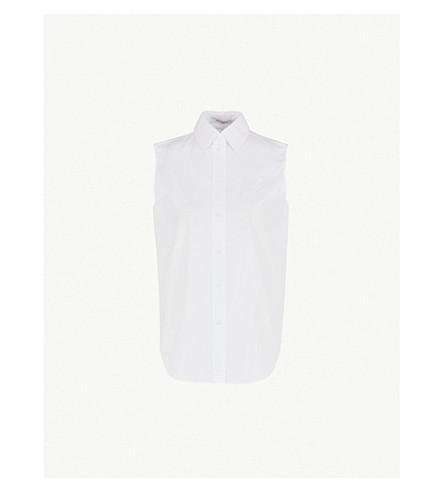 GIVENCHY 无袖棉府绸衬衫 (白色