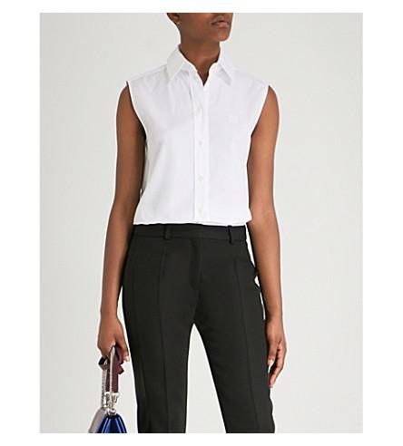 GIVENCHY Sleeveless cotton-poplin shirt (White
