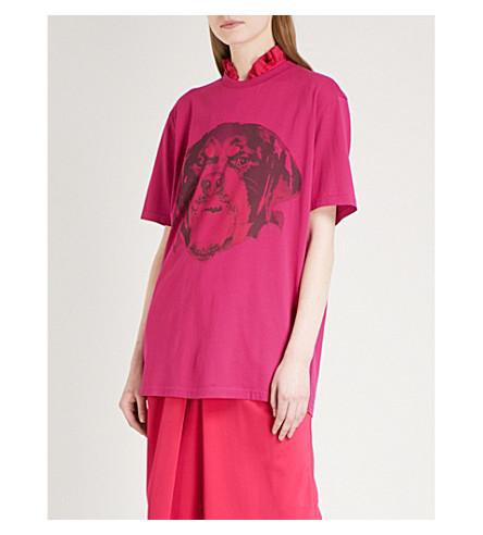 GIVENCHY Rottweiler cotton-jersey T-shirt (Fuchsia