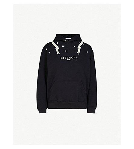 GIVENCHY Gemini printed cotton-jersey hoody (Black