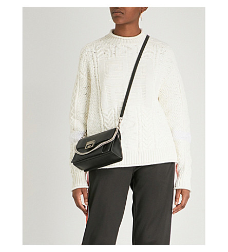 GIVENCHY Logo wool and cashmere-blend jumper (Off+white